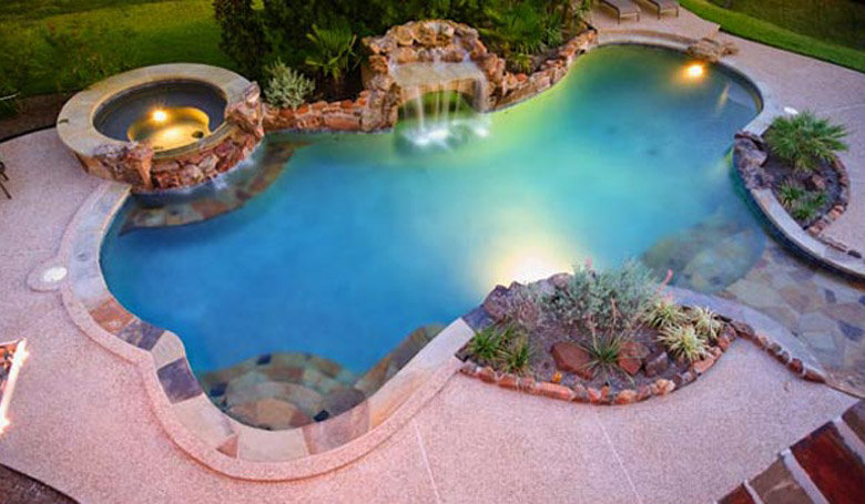 Tropical dream pools custom swimming pool builder for Custom pool and spa